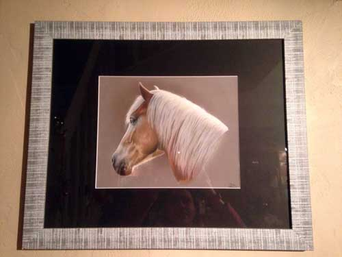 art équestre portrait cheval tableau