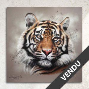 dessin peinture pastel tigre animal