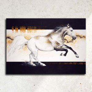 art équestre portrait cheval tableau Art équin : tableau EL PRIMERO, un étalon espagnol gris au galop, réalisé avec la technique de la peinture acrylique, avec un fond moderne et graphique. Meilleur artiste équin peintre animalier. art, équin, équestre, acheter, tableau, peinture, cheval, chevaux, déco, décoration, moderne, contemporain, oeuvre, cadre, mur, huile, mouvement