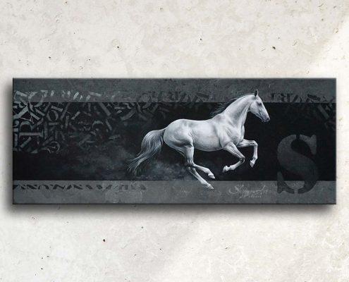 Art équin : tableau ESCAPE, un cheval gris au galop, réalisé avec la technique de la peinture acrylique, avec un fond moderne et graphique. Meilleur artiste équin peintre animalier. art, équin, équestre, acheter, tableau, peinture, cheval, chevaux, déco, décoration, moderne, contemporain, oeuvre, cadre, mur, huile, mouvement Portrait équin, tableau original d'un cheval dans un style réaliste en ombre et lumière, réalisé avec la technique de la peinture à l'huile par Skyzune ART. Meilleur artiste peintre équin et animalier. Tableau original animalier contemporain et graphique de Skyzune ART, artiste peintre pastelliste en art équin et animalier réaliste en ombre et lumière, à la peinture acrylique, à la peinture à l'huile et au pastel, art mural, décoration d'intérieur moderne, art de luxe, décoration hôtel design intérieur luxe, art, équin, équestre, acheter, tableau, peinture, cheval, chevaux, déco, décoration, moderne, contemporain, oeuvre, cadre, mur, huile, mouvement, artiste peintre équin et animalier, peinture et pastel.