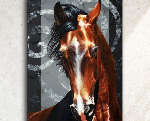 Art équin : tableau WHISPERING WIND, avec une tête de cheval, crinière au vend, réalisé avec la technique de la peinture acrylique, sur fond moderne et graphique. Meilleur artiste équin peintre animalier. art, équin, équestre, acheter, tableau, peinture, cheval, chevaux, déco, décoration, moderne, contemporain, oeuvre, cadre, mur, huile, mouvement. Portrait équin, tableau original d'un cheval dans un style réaliste en ombre et lumière, réalisé avec la technique de la peinture à l'huile par Skyzune ART. Meilleur artiste peintre équin et animalier. Tableau original animalier contemporain et graphique de Skyzune ART, artiste peintre pastelliste en art équin et animalier réaliste en ombre et lumière, à la peinture acrylique, à la peinture à l'huile et au pastel, art mural, décoration d'intérieur moderne, art de luxe, décoration hôtel design intérieur luxe, art, équin, équestre, acheter, tableau, peinture, cheval, chevaux, déco, décoration, moderne, contemporain, oeuvre, cadre, mur, huile, mouvement, artiste peintre équin et animalier, peinture et pastel.