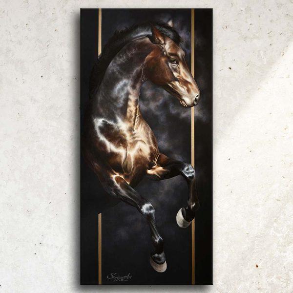art equestre dessin tableau équin portrait cheval, tableau original d'un cheval dans un style réaliste en ombre et lumière, réalisé avec la technique de la peinture à l'huile par Skyzune ART. Meilleur artiste peintre équin et animalier. Tableau original animalier contemporain et graphique de Skyzune ART, artiste peintre pastelliste en art équin et animalier réaliste en ombre et lumière, à la peinture acrylique, à la peinture à l'huile et au pastel, art mural, décoration d'intérieur moderne, art de luxe, décoration hôtel design intérieur luxe, art, équin, équestre, acheter, tableau, peinture, cheval, chevaux, déco, décoration, moderne, contemporain, oeuvre, cadre, mur, huile, mouvement, artiste peintre équin et animalier, peinture et pastel.