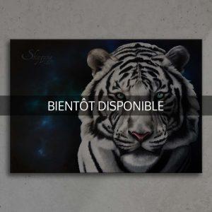 art, peinture, tigre blanc
