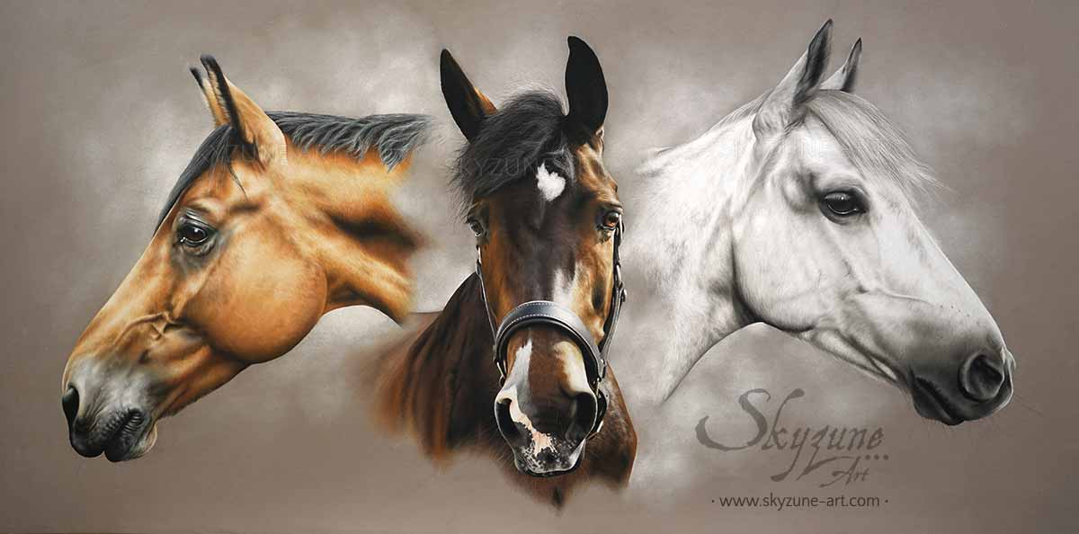 Animal Art Portrait Order From Photo Pastel And Painting On Canvas