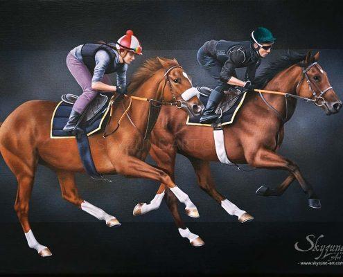 Commande tableau cheval, art équin et animalier à la peinture, œuvre d'art équestre